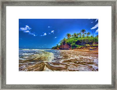 Island Wave Framed Print