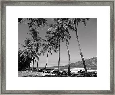 Island Waves Framed Print