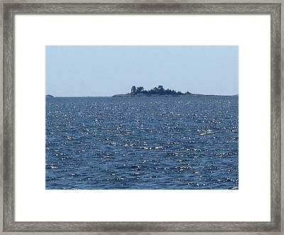 Islands At The Edge Of Georgian Bay  Framed Print by Lyle Crump
