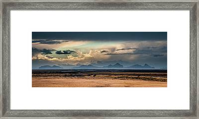 Islands In The Sky Framed Print