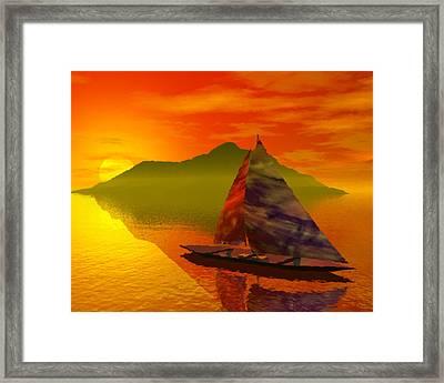 Islandside Framed Print by Adam Wells