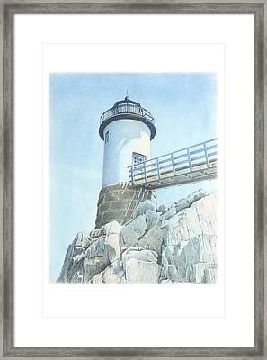 Isle Au Haut Light Framed Print by Todd Baxter