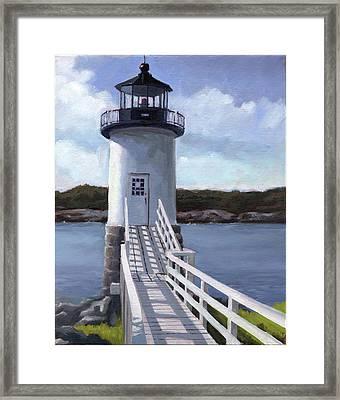 Isle Au Haut Lighthouse Framed Print by Todd Baxter