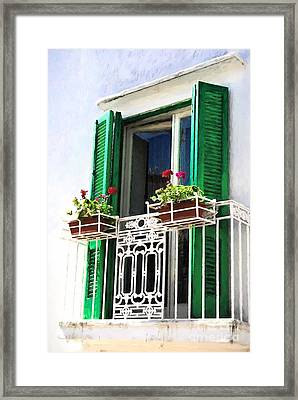 Isle Of Capri Colors # 3 Framed Print by Mel Steinhauer