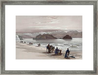 Isle Of Graia Gulf Of Akabah Arabia Petraea Feby 27th 1839 Framed Print by Munir Alawi