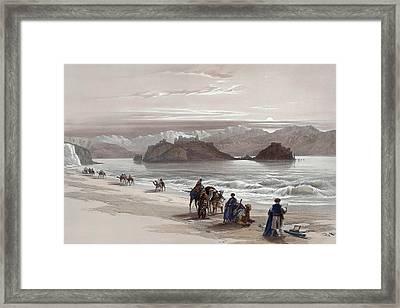 Isle Of Graia Gulf Of Akabah Arabia Petraea Feby 27th 1839 Framed Print