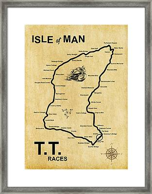 Isle Of Man Tt Framed Print by Mark Rogan