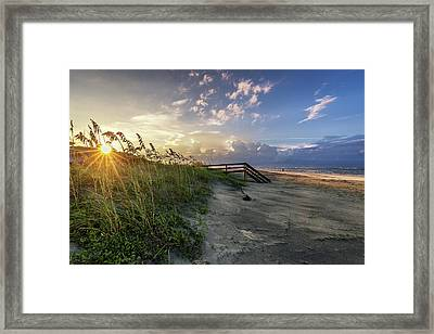 Isle Of Palms Sunstar Framed Print