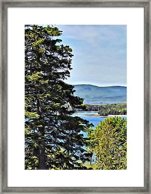 Islesboro View  Framed Print by Judy Bernier