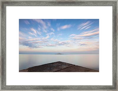 Islet Baraban With Lighthouse Framed Print