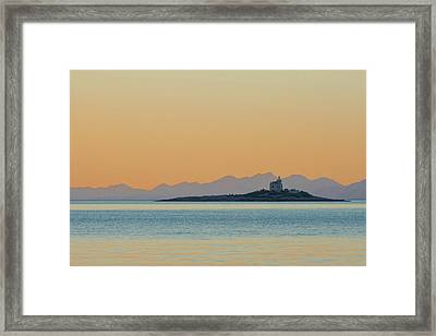 Framed Print featuring the photograph Islet by Davor Zerjav