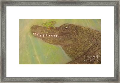 Isn't It Ironic Gator Framed Print