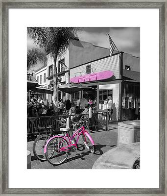 Isn't She Pretty In Pink Framed Print by Rich Beer