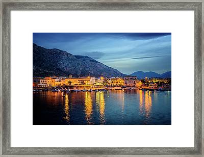 Isola Delle Femmine Harbour Framed Print by Ian Good