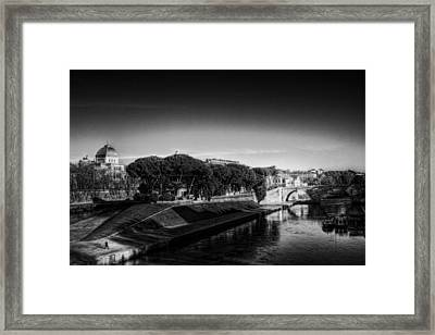 Isola Tiberina Framed Print by Brian Thomson