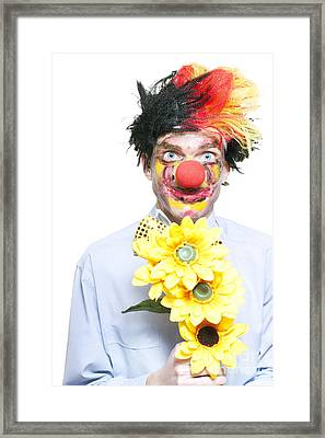 Isolated Clown In A Funny Summer Romance Framed Print by Jorgo Photography - Wall Art Gallery