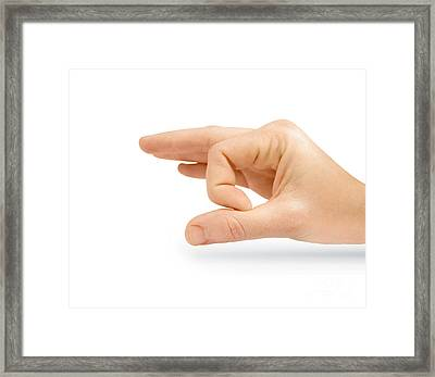 Isolated Flicking Hand Framed Print by Jorgo Photography - Wall Art Gallery