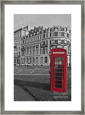 Isolated Phone Box Framed Print