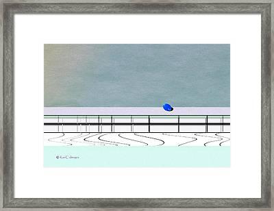 Framed Print featuring the digital art Isolation 2 by Kae Cheatham