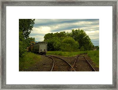 Isolation On The Tracks Framed Print by Nicole Kramer