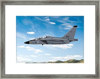 Israeli Air Force Airmacchi M-346i Master Lavi In Flight Framed Print