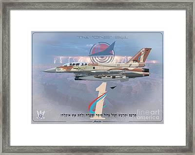 Israeli Air Force F-16i Sufa The One Squadron  Framed Print