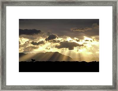 Framed Print featuring the photograph Israeli Desert Sunrise At Timna by Yoel Koskas