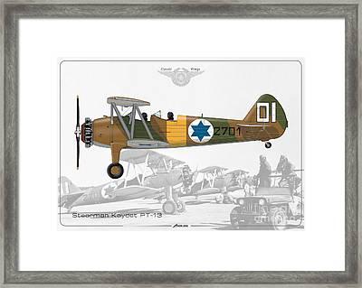 Israeli Air Force Stearman Kaydet Pt-13 Framed Print