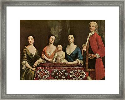 Issac Royall And His Family Framed Print