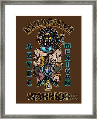 Issachar Aztec Warrior Framed Print