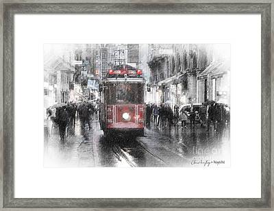 Istambool Historic Tram Framed Print