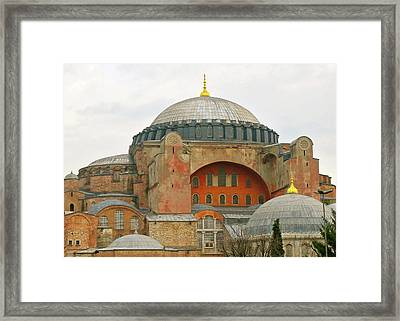 Framed Print featuring the photograph Istanbul Dome by Munir Alawi