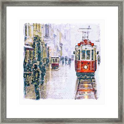 Istanbul Nostalgic Tramway Framed Print