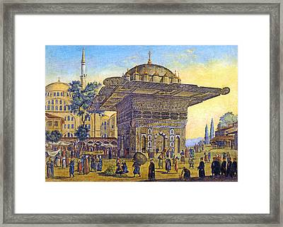 Istanbul Outdoor Bazaar Framed Print by Munir Alawi