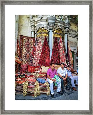 Istanbul Rug Merchants Framed Print by Ross Henton