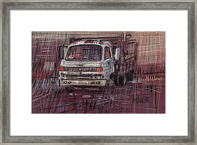 Isuzo Truck Framed Print by Donald Maier