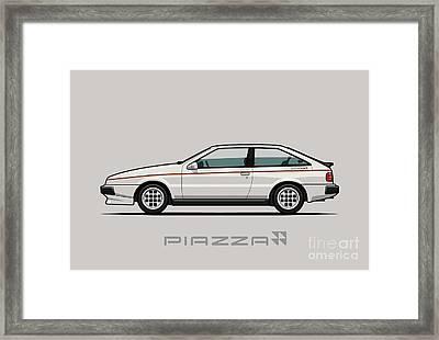 Isuzu Piazza/impulse Xe White Framed Print by Monkey Crisis On Mars