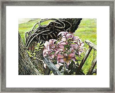 It A Jungle Framed Print by Leo Malboeuf