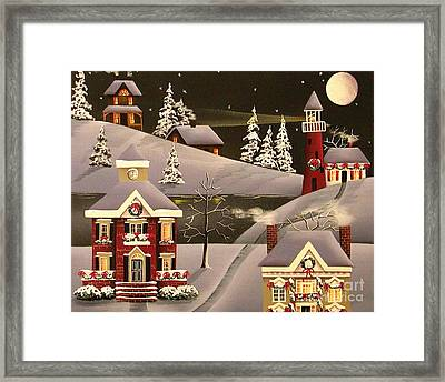 It Came Upon A Midnight Clear Framed Print by Catherine Holman