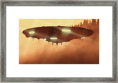 It Comes In The Mist By Raphael Terra Framed Print