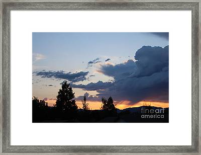 Framed Print featuring the photograph It Cometh by Marie Neder