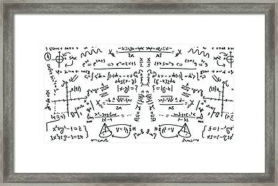 Framed Print featuring the drawing It Figures... by ReInVintaged