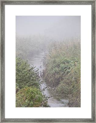 Framed Print featuring the photograph It Flows From The Mist by Odd Jeppesen