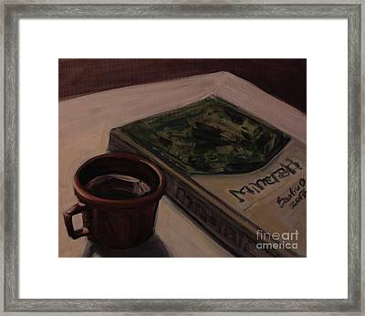 Framed Print featuring the painting It Is Coffee Time by Olimpia - Hinamatsuri Barbu