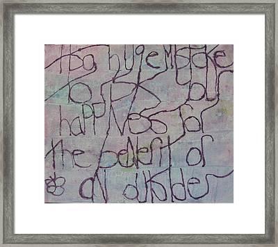 It Is Huge Mistake Framed Print by AJ Brown