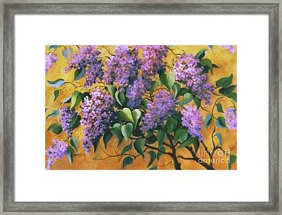 It Is Lilac Time 2 Framed Print