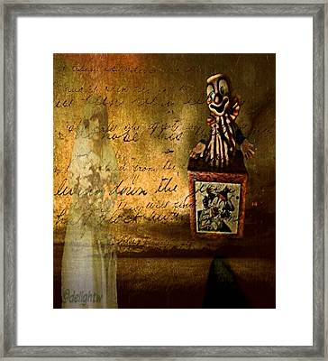 Framed Print featuring the digital art It Is Not You by Delight Worthyn