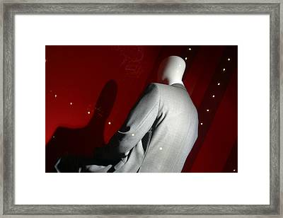 It Is Only The Suit That Stops Me Looking Timid Framed Print by Jez C Self