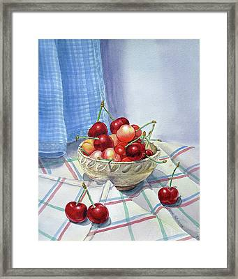 It Is Raining Cherries Framed Print by Irina Sztukowski