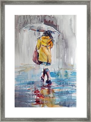 It Is Raining Framed Print